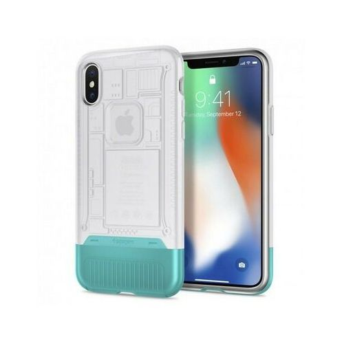 Etui na smartfon SPIGEN Classic C1 do Apple iPhone X Biały 057CS23198, kolor biały