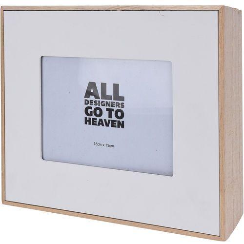 Drewniana ramka na zdjęcie - 24 cm x 19 cm - biała, B075YXH12K