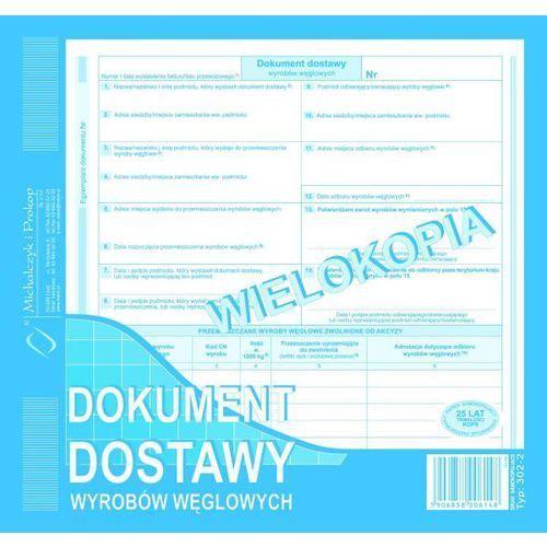 Dokument dostawy wyrobów węglowych (wielokopia) MICHALCZYK I PROKOP 2/3 A4 - G1395, NB-2498