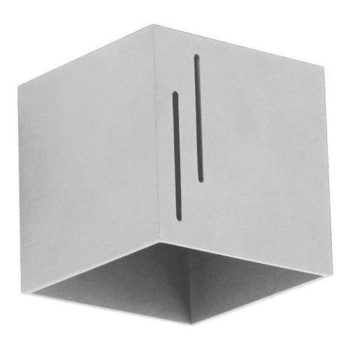 Kinkiet quado modern b popiel marki Lampex