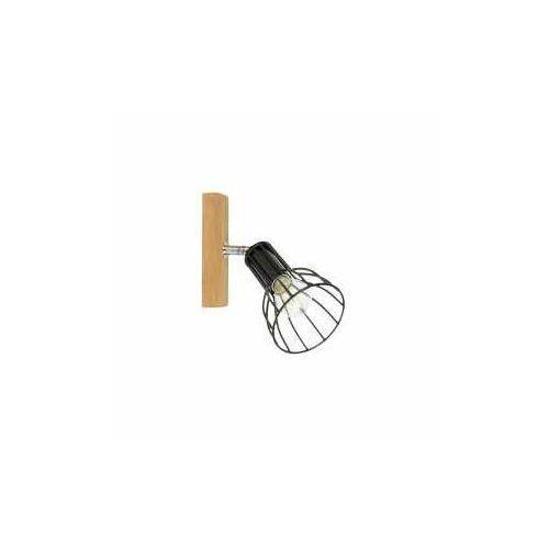 megan wood 2344174 kinkiet lampa ścienna 1x40w e14 drewno/czarny marki Spot light