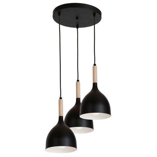 Luminex noak wood 1192 lampa wisząca zwis 3x60w e27 czarny / brązowy