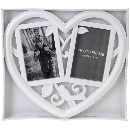 Wideshop Duża ramka na zdjęcia serce love 2 zdjęcia (8719202025644)