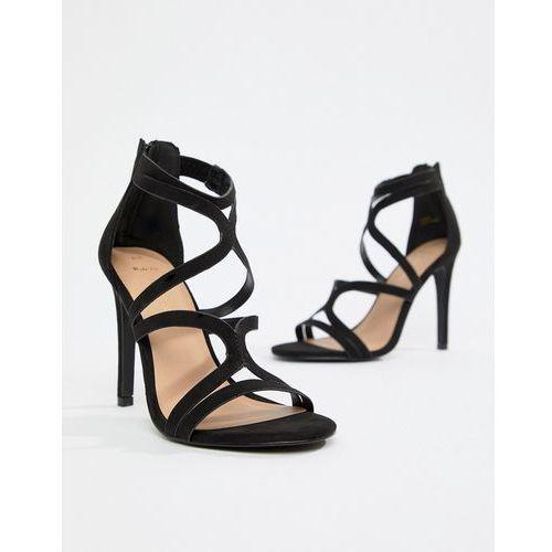 wide fit multi strap high heeled sandal - black marki New look
