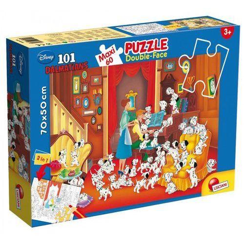 , puzzle dwustronne maxi 101 dalmatyńczyków marki Lisciani