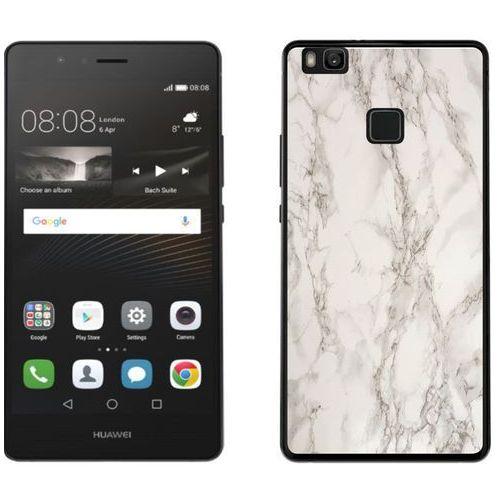 Huawei P9 Lite - etui na telefon - Kolekcja marmur - marble biały - H17 - Marble biały, kolor biały