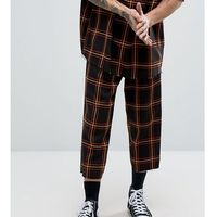 inspired relaxed trousers in check - black marki Reclaimed vintage