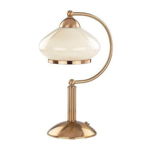 Lampa stołowa astoria 04321.63 lampka 1x60w e27 patyna marki Alfa