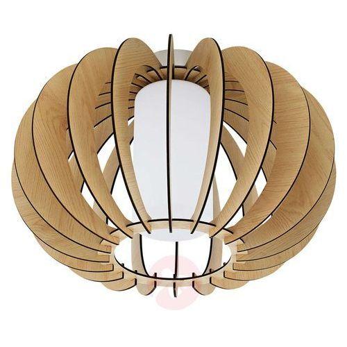 Eglo Plafon stellato 1 95597 drewniany lampa sufitowa 1x60w e27 nikiel mat / drewno