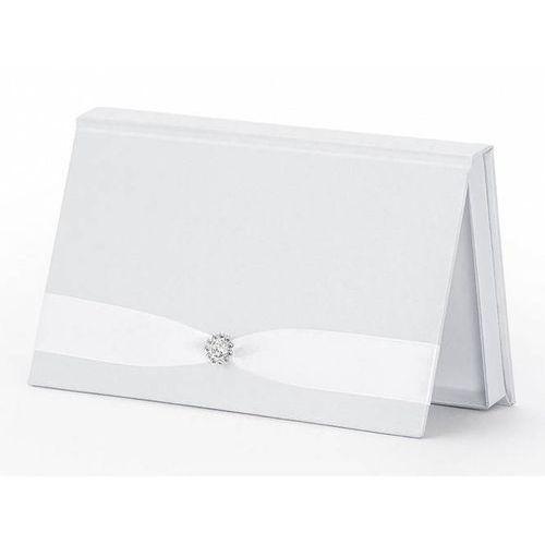 Pudełko na pieniądze białe ze srebrną aplikacją - 1 szt. (5901157455758)