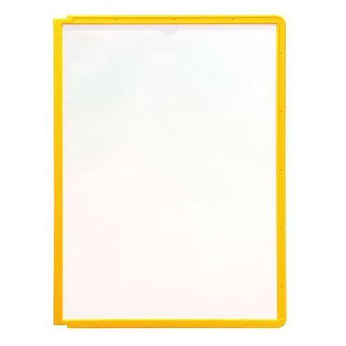 Tablice przezroczyste z ramą profilowaną, do din a4, opak. 10 szt., żółty. do fo marki Durable