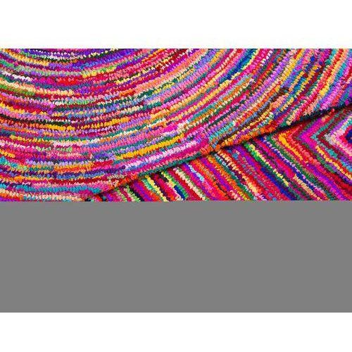 Dywan kolorowy - 80x150 cm - bawełna - poliester - MALATYA (7081456819616)