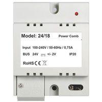 P24/18 zasilacz 24v 0,75a dedykowany do systemów wideodomofonowych dwuprzewodowych marki Vidos