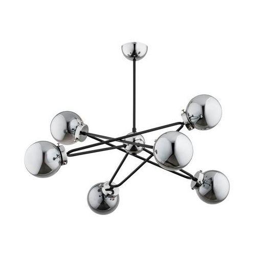 Alfa Lampa wisząca sagito chrom srebrno-czarna e14 (5900458256163)