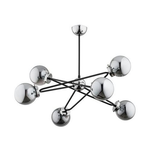 Lampa wisząca sagito chrom srebrno-czarna e14 marki Alfa