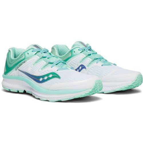 Saucony guide iso buty do biegania kobiety biały/turkusowy us 8,5 | 40 2018 szosowe buty do biegania (0884547878311)