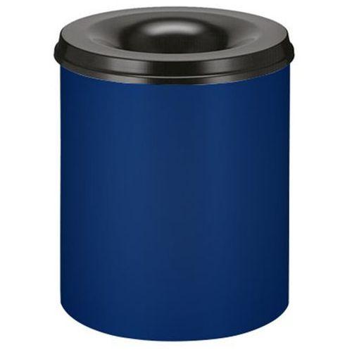 Bezpieczny kosz na papier, poj. 80 l, wys. 550 mm, kobaltowo-niebieski. korpus z marki Vepa bins