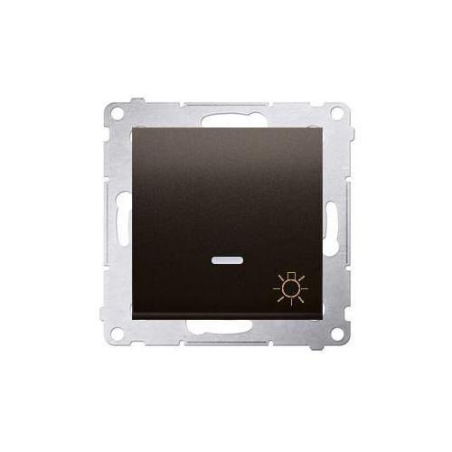 """Simon 54 przycisk """"światło"""" z podświetleniem led (moduł) 10ax, 250v~, szybkozłącza; brąz mat ds1l.01/46 wmdl-081xxx-046 marki Kontakt - simon"""