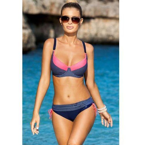 Kostium dwuczęściowy model rafaella navy/pink marki Ewlon