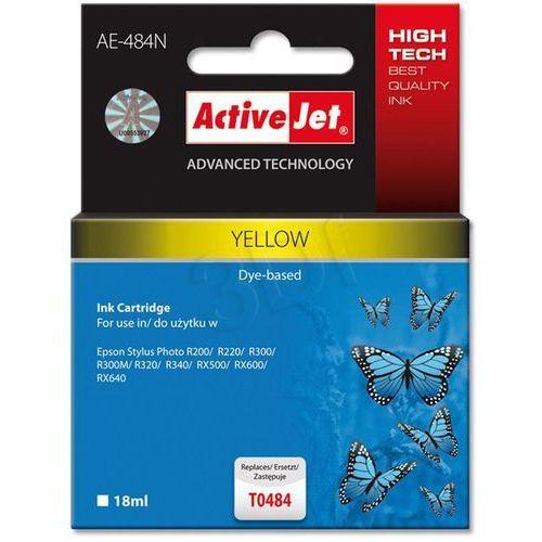 Tusz ActiveJet AE-484N (AE-484) Yellow do drukarki Epson - zamiennik Epson T0484 (5904356282934)