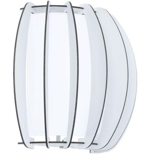 Kinkiet stellato 2 95609 drewniany lampa ścienna 1x60w e27 biały marki Eglo