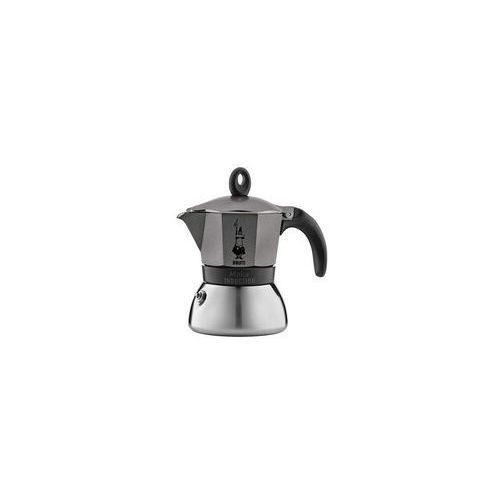 Bialetti kawiarka moka induction 6 tz antracyt (8006363002783)
