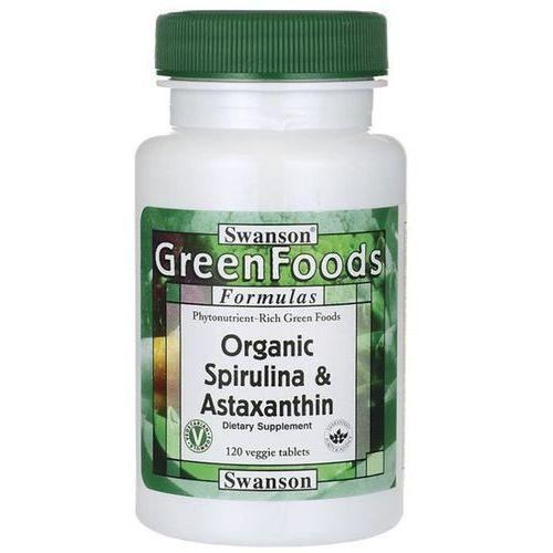 Swanson health products Swanson organiczna spirulina i astaksantyna 120 tabletek