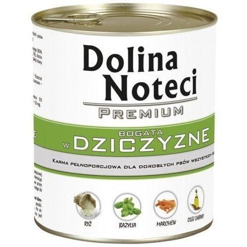 Dolina Noteci Premium karma dla psa DZICZYZNA puszka 400g/800g