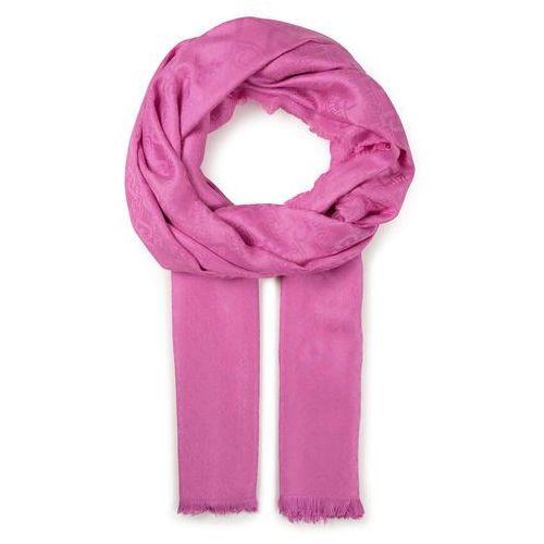 Szal - stola logo jacquard 2a0002 t0300 pink bubble x0233 marki Liu jo