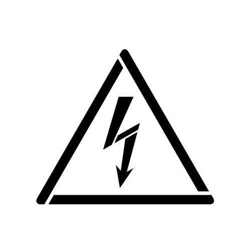 Szablon do malowania Znak ostrzeżenie przed napięciem elektrycznym GW012 - 17x20 cm
