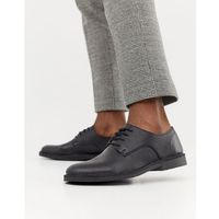 Selected homme leather shoe on crepe sole - black