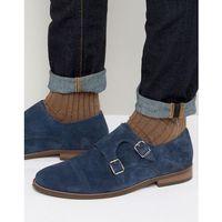 brigadier monk shoes in navy suede - blue, Dune