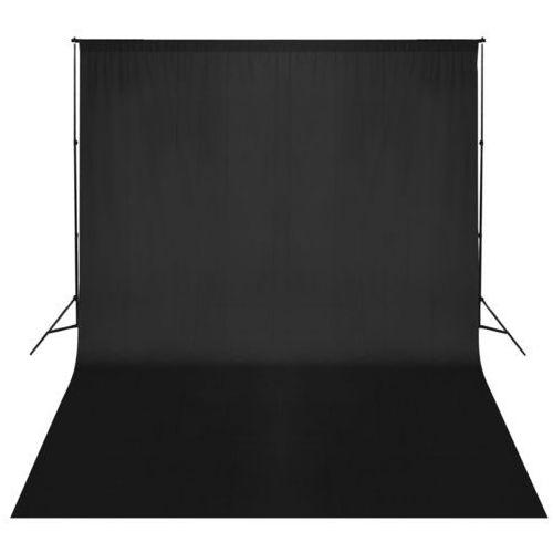 Vidaxl  zestaw do zawieszenia wraz z tłem fotograficznym. czarny 500 x 300 cm
