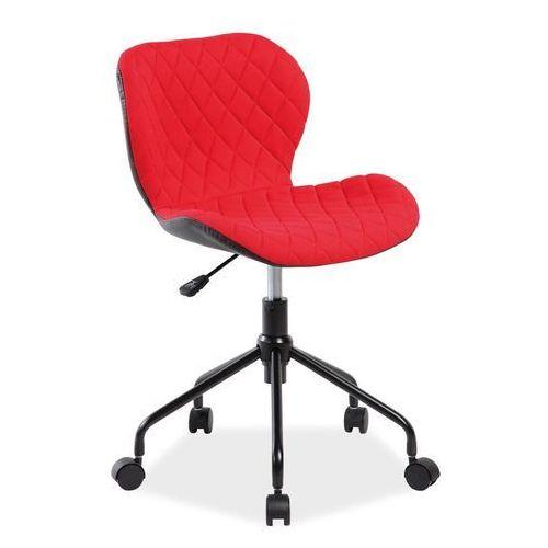 Fotel Obrotowy Rino Czerwony Czarny