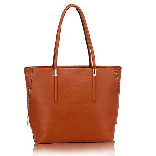 Wielka brytania Duża torebka damska shopperka jasny brąz - jasnobrązowy