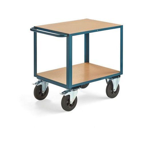 Wózek warsztatowy, z hamulcem, 2 koła skrętne, 600 kg, 800x600 mm