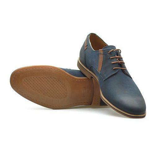 Pantofle ce0c-5533-zj23-00s02 granatowe nubuk, Conhpol