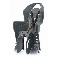 Fotelik rowerowy na bagażnik koolah rms - szaro/szary marki Polisport