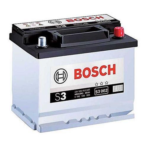 S3 akumulator producenta BOSCH, napięcie: 12V, prąd: 400A, pojemność: 45Ah