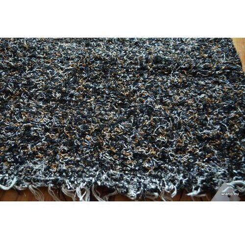 Twórczyni ludowa Chodnik bawełniany ręcznie tkany biało-szaro-srebrno-czarny 65x100 cm