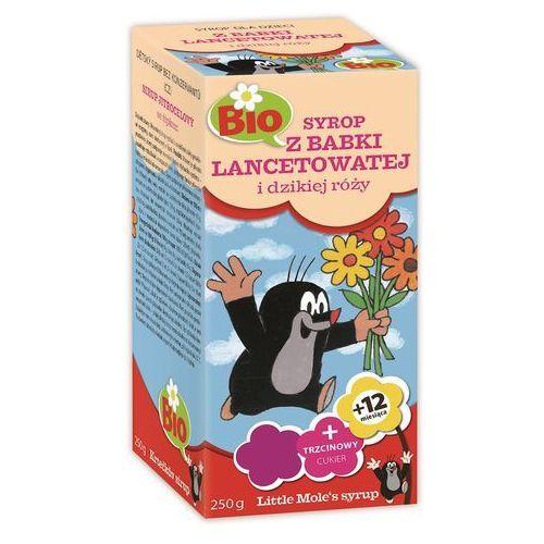 Syrop dla dzieci z babki lancetowatej i dzikiej róży bio 250 g - apotheke (little mole) marki Apotheke (herbatki dla dzieci, dorosłych, błonnik