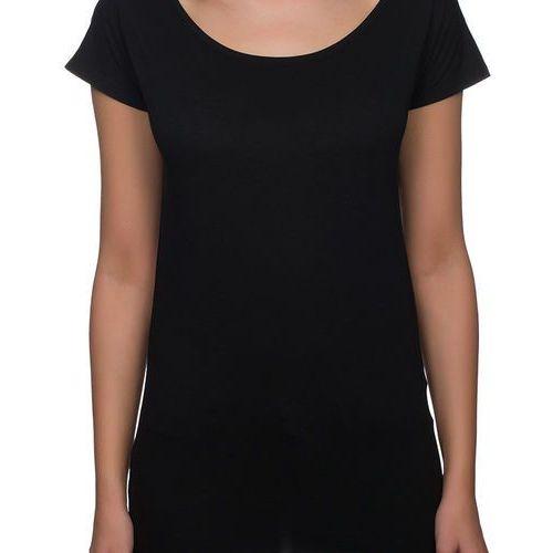 Megakoszulki Koszulka damska koszulka oversize (bez nadruku, gładka) - czarna