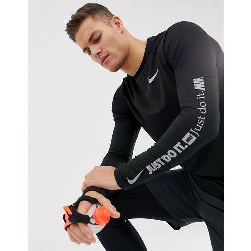 just do it long sleeve top in black aj6623-010 - black marki Nike running