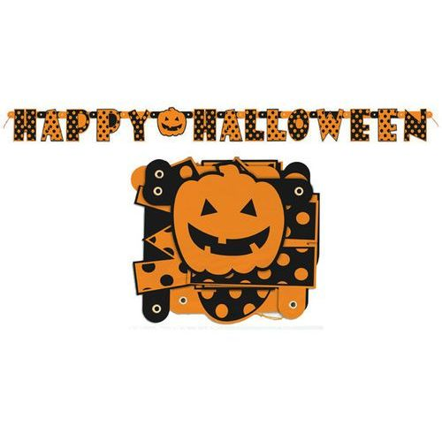 Unique Baner happy halloween w kropki - 162 cm - 1 szt. (0011179100873)