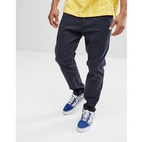 Bershka Slim Fit Chinos In Navy - Blue, slim