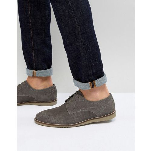 Frank Wright Lace Up Shoes In Grey Suede - Grey
