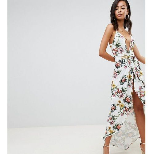 Asos design tall slinky occasion maxi dress in floral print - multi, Asos tall