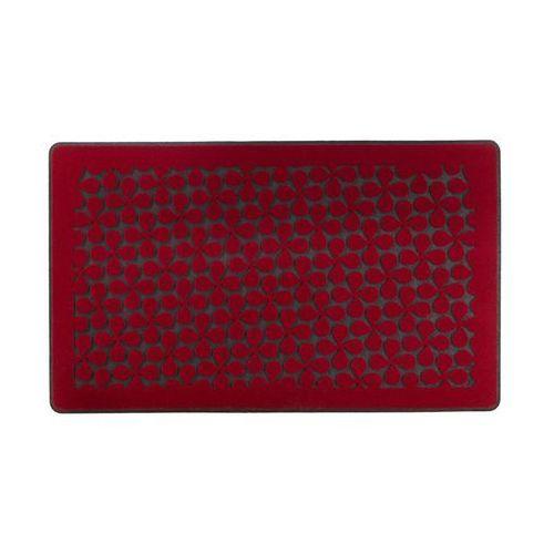Wycieraczka wewnętrzna clover 74 x 44 cm gumowa czerwona marki Inspire