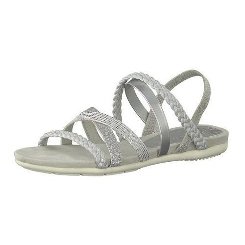 Marco tozzi sandały z rzemykami szary