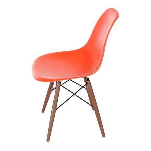 Krzesło p016w pp dark inspirowane dsw - pomarańczowy marki D2.design